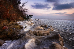 Mer congelée Image stock