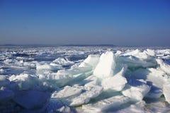 Mer congelée d'hiver Photographie stock libre de droits