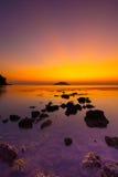 Mer crépusculaire légère Photos libres de droits