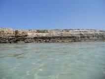 Mer cristalline en Puglia à l'ostuni Images stock