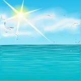 Mer d'été Images libres de droits