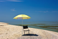 Mer d'Azov, la plage Photographie stock