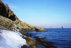 Mer d'hiver Photos stock