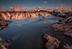 Mer d'hiver Photographie stock