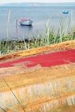 Mer d'horizontal de bateaux Photo libre de droits
