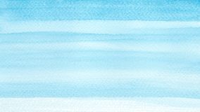 Mer d'océan ou fond azuré d'abrégé sur aquarelle de turquoise de bleu de ciel Suffisance pour aquarelle horizontale de gradient T photos stock
