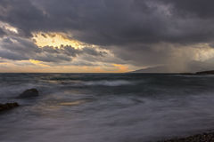 Mer dans la tempête Image stock