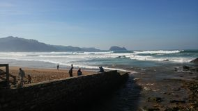 Mer dans le pays Basque photographie stock libre de droits