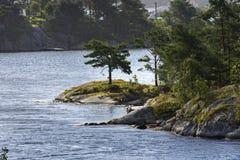 Mer dans Mandal en Norvège photographie stock