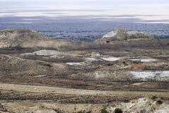 Mer de 13 Aral, plateau d'Usturt photographie stock libre de droits