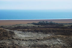 Mer de 4 Aral, plateau d'Usturt photos stock