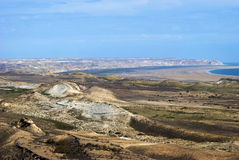 Mer de 5 Aral, plateau d'Usturt image stock