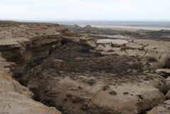 Mer de 9 Aral, plateau d'Usturt photo stock