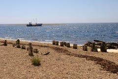 mer de bateau Photographie stock
