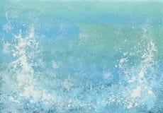 Mer de bleu d'aquarelle Photos libres de droits