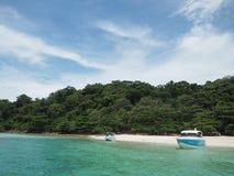 Mer de bleu de Rayong Photos libres de droits
