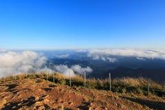 Mer de brume au Chi fa de Phu Image stock