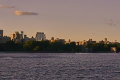 Mer de Central Park avec un coucher du soleil photo libre de droits