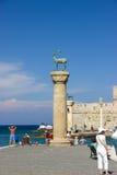 Mer de ciel bleu de la Grèce Rhodos Photos libres de droits