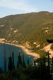 Mer de ciel bleu de nature d'été de Leucade Grèce Image stock