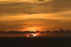 Mer de coucher du soleil Photos stock