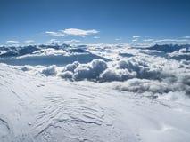 Mer de début de la matinée d'hiver Autrichien supérieur de montagne de nuages d'†« Image libre de droits