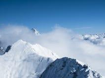 Mer de début de la matinée d'hiver Autrichien supérieur de montagne de nuages d'†« Photographie stock libre de droits