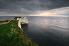 mer de Dorset Angleterre de côte à image stock