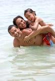 mer de famille Photographie stock libre de droits