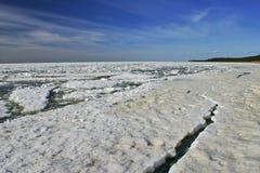 Mer de glace de l'hiver Photos stock