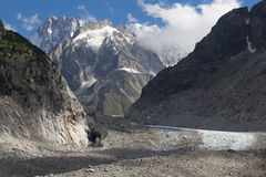 Mer de Glace et Grandes Jorasses Photos stock