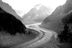 Mer de Glace - French Alps Stock Photos