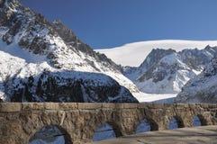 Mer de Glace Glacier Lizenzfreie Stockfotos