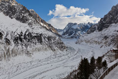Mer de Glace Glacier Stock Photography