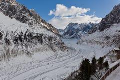 Mer de Glace Glacier Photographie stock