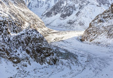 Mer de Glace Glacier Royalty Free Stock Images