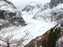Mer de Glace. Glacier Mer de Glace, Chamonix France royalty free stock photography