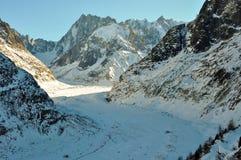 Mer de Glace glacier in the French Alpes, Chamonix, France Stock Image