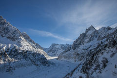 Mer de Glace Glacier, French Alps Royalty Free Stock Images