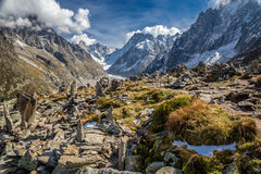 Mer De Glace Glacier From Le Signal Forbes-France Stock Photos