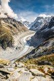 Mer De Glace Glacier-Mont Blanc Massif,France Stock Photos