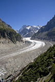 Mer DE Glace gletsjer, Frankrijk stock foto