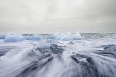 Mer de glace, Islande Image libre de droits