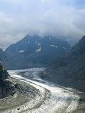 Mer de glace at Mont-Blanc Stock Images