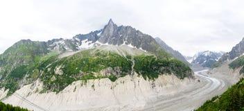 Mer de Glace, Mont Blanc Immagini Stock Libere da Diritti