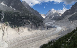 Mer de Glace from Montenvers Royalty Free Stock Photos