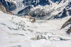 Mer DE Glace (Overzees van Ijs) is een gletsjer op Mont Blanc wordt gevestigd dat Royalty-vrije Stock Afbeelding