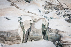 Mer DE Glace (Overzees van Ijs) is een gletsjer op Mont Blanc wordt gevestigd dat Stock Foto's