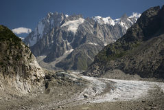 Mer de Glace - Sea of Ice Stock Images