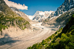 Mer de Glace, Sea of Ice Stock Photography